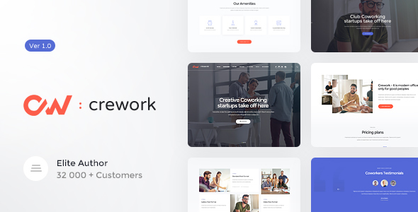 Crework | Coworking and Creative Space WordPress Theme - Business Corporate