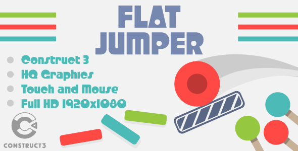 Flat Jumper - HTML5 Game (Construct3) - CodeCanyon Item for Sale