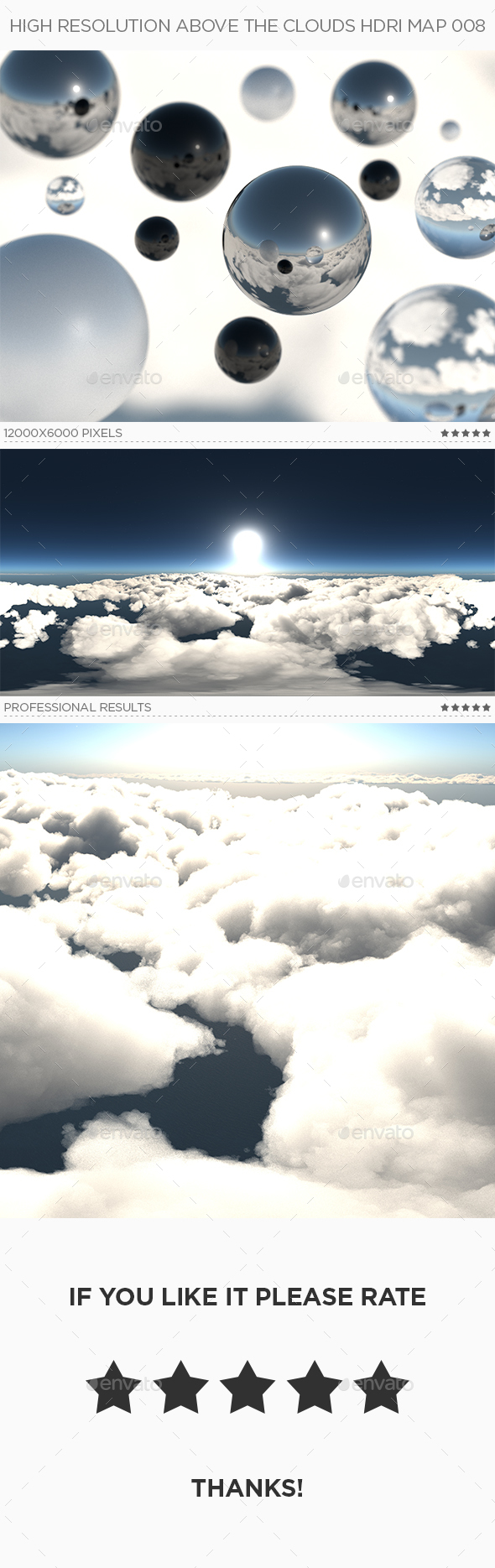 3DOcean High Resolution Above The Clouds HDRi Map 008 20318152