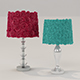 Vray Ready Flower Table Lamp Collection