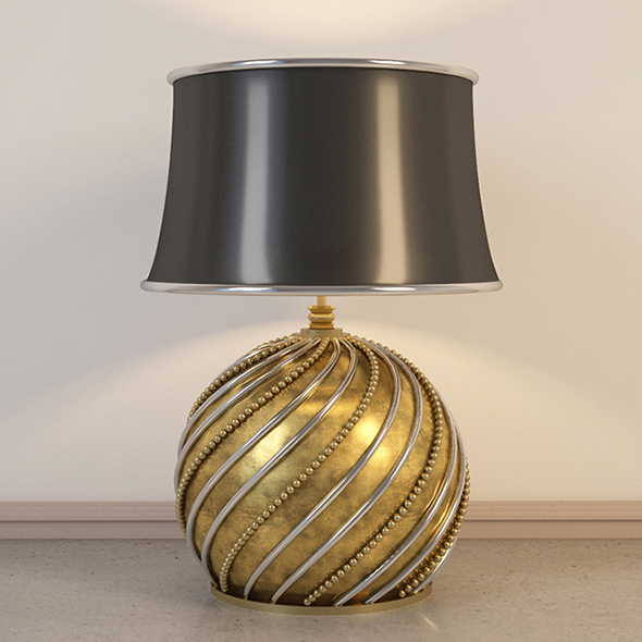 Vray Ready Metal Table Lamp - 3DOcean Item for Sale