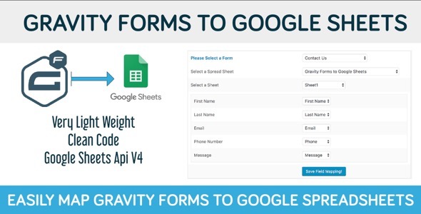 Gravity Forms to Google Sheets - CodeCanyon Item for Sale