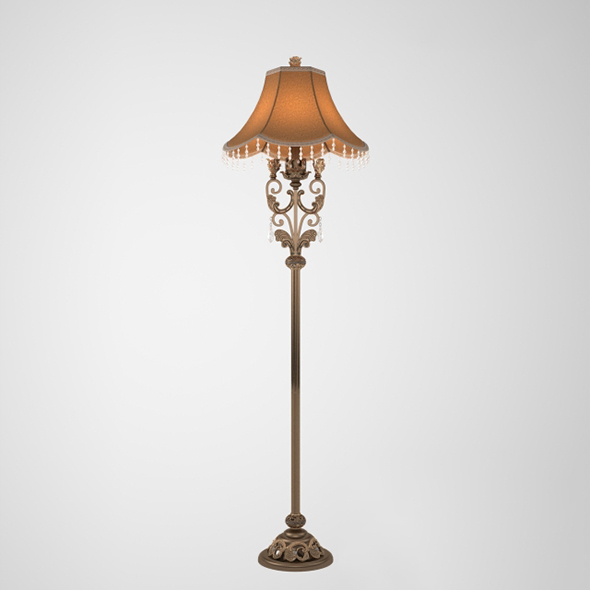 Vray Ready Beautiful Floor Lamp - 3DOcean Item for Sale