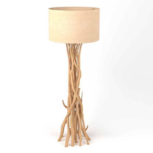 Vray Ready Modern Floor Lamp - 3DOcean Item for Sale