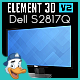 Dell S2817Q for Element 3D