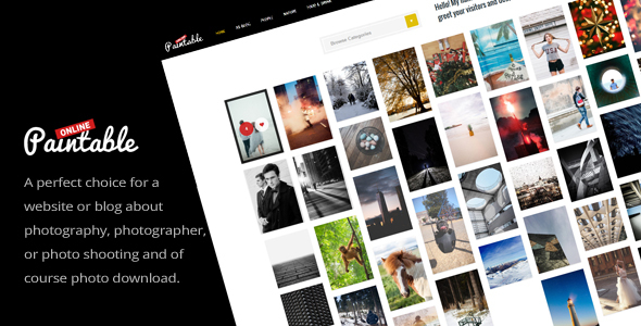 Paintable - Photography and Blog / Photos Download WordPress Theme