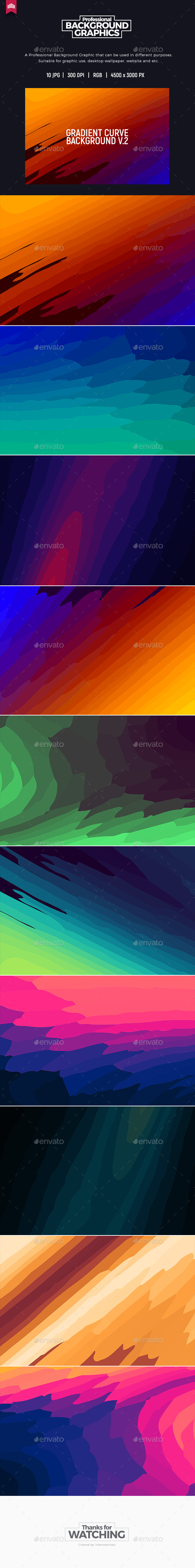 Gradient Curve V.2 - Background - Abstract Backgrounds