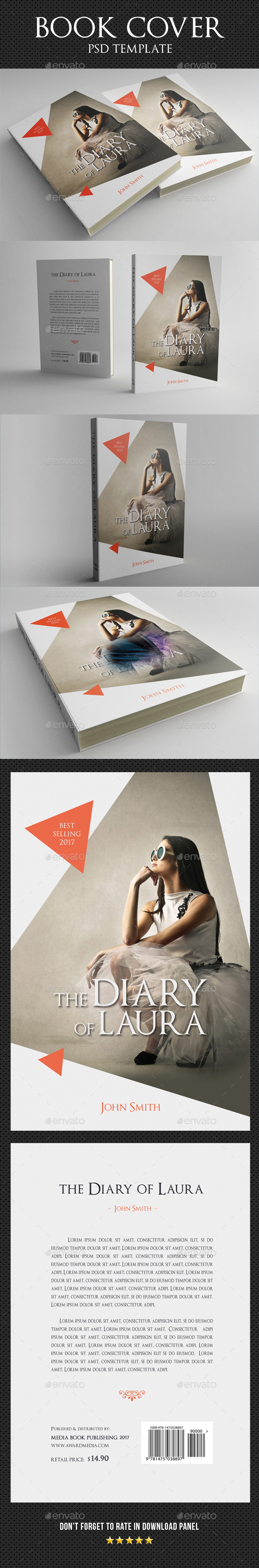 Book Cover Template 36 - Miscellaneous Print Templates