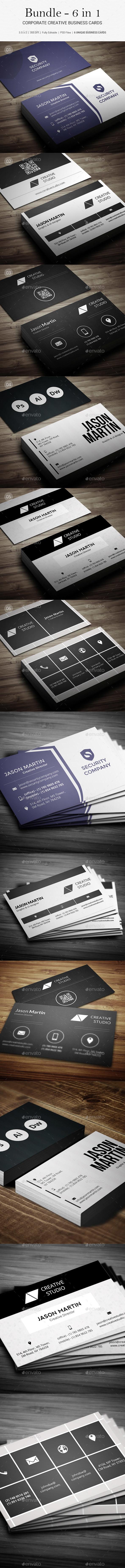 GraphicRiver Bundle Corporate Business Cards B20 20318593