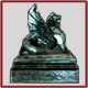 Griffon statue