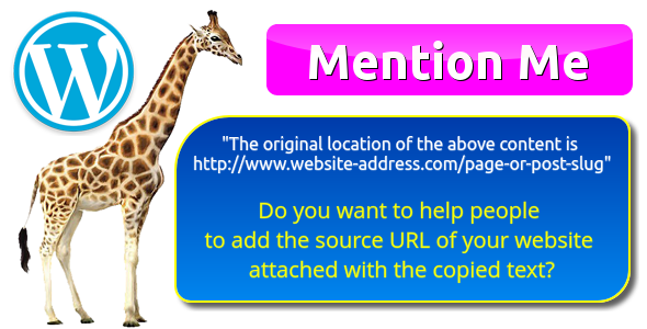 """The original location of the above content is www.example.com"" by Mention Me for WordPress (WordPre…"