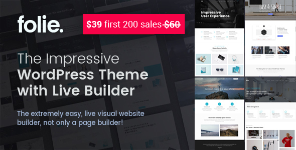 Folie | The WordPress Website Builder - Business Corporate