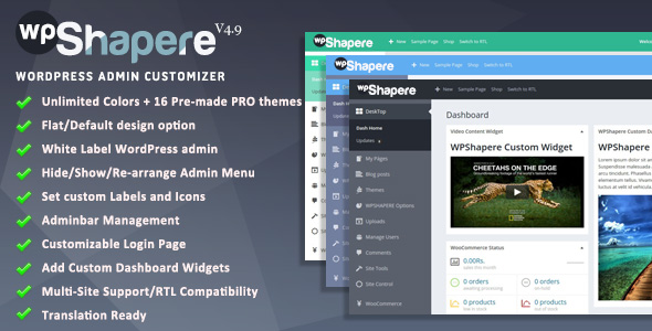 Wordpress Admin Theme - WPShapere - CodeCanyon Item for Sale