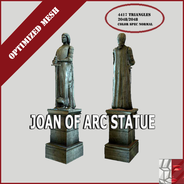 Joan of Arc statue - 3DOcean Item for Sale