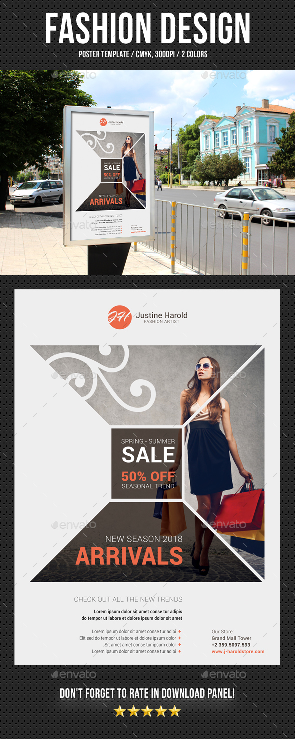 Fashion Poster 11 - Signage Print Templates