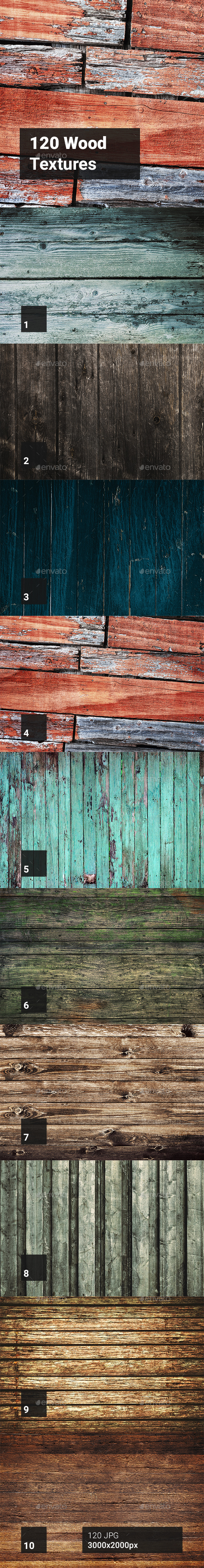 120 Wood Textures - Abstract Backgrounds