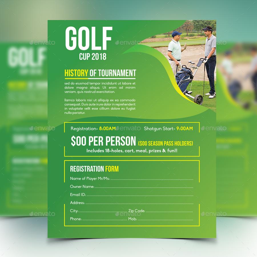golf tournament program template - golf tournament flyer by design station graphicriver