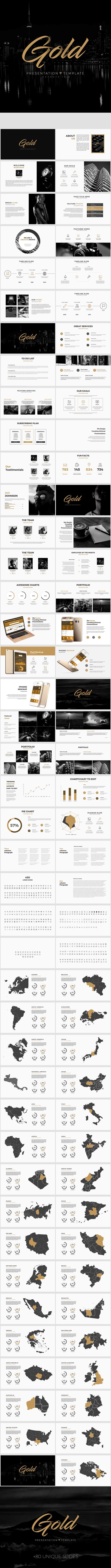 Gold - Clean Keynote Template