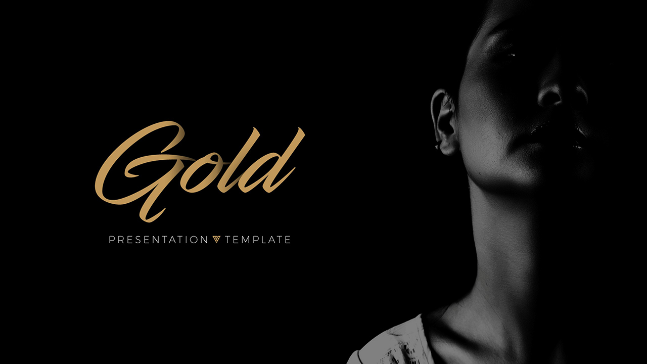 gold - clean keynote templatepowergirl | graphicriver, Presentation templates
