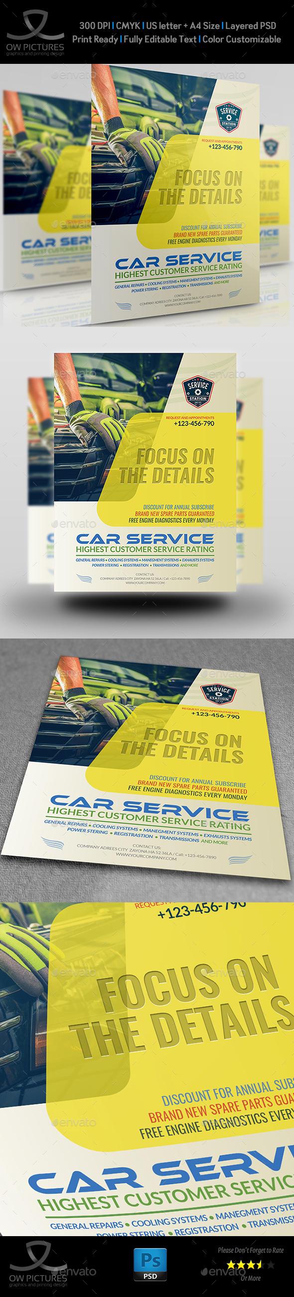 Car Services Flyer Template Vol.2 - Commerce Flyers