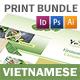 Vietnamese Pho Menu Print Bundle 3