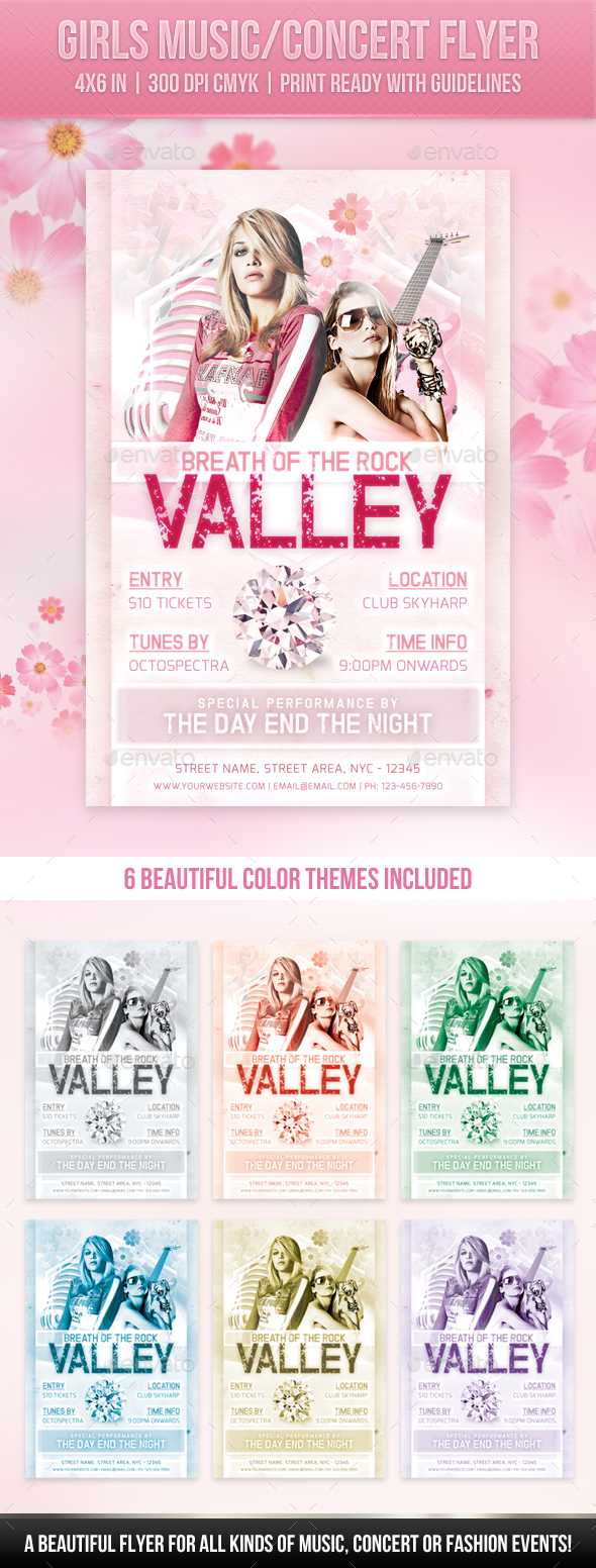 GraphicRiver Girls Music Concert Flyer 20319116