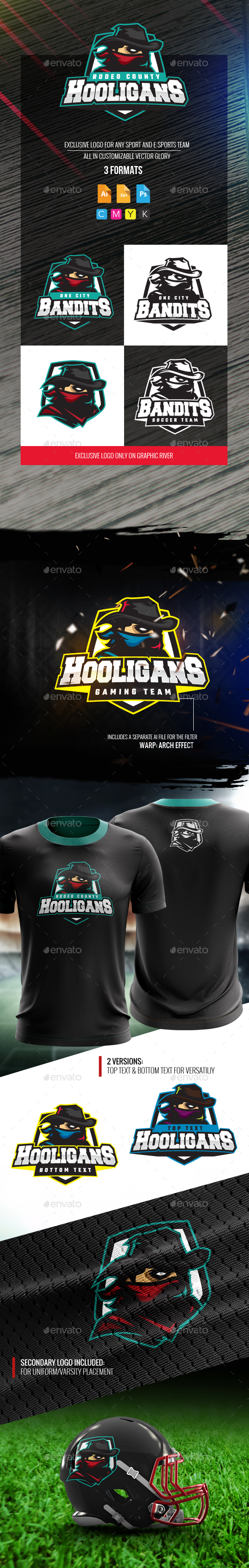 Hooligan Bandits Logo - Humans Logo Templates