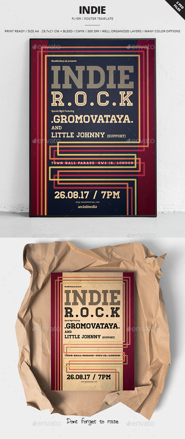 Indie Flyer / Poster 21 - Clubs & Parties Events