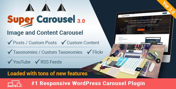 Super Carousel - Responsive Wordpress Plugin - CodeCanyon Item for Sale