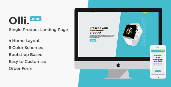 Olli - Single Product Landing Page