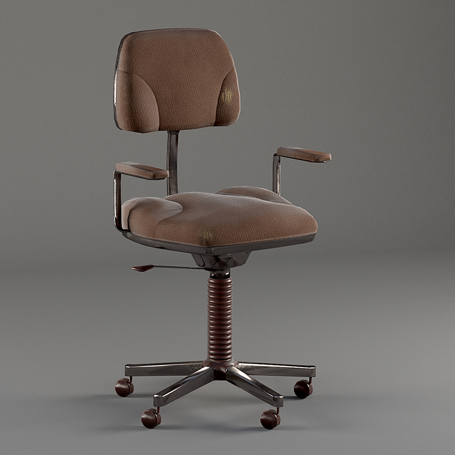 Old Office Chair old office chairchroman1990 | 3docean
