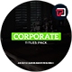 Corporate Titles II - VideoHive Item for Sale