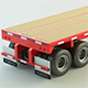 Flat Bed Trailer - 3DOcean Item for Sale