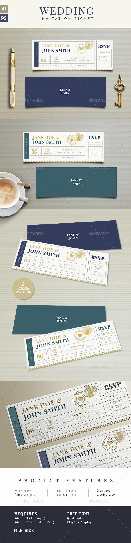 Wedding Invitation Ticket - Wedding Greeting Cards