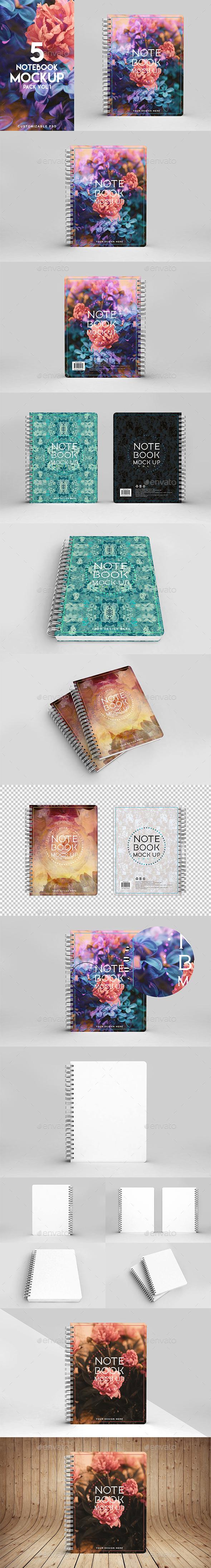 Notebook Mockup Vol 1 - Product Mock-Ups Graphics