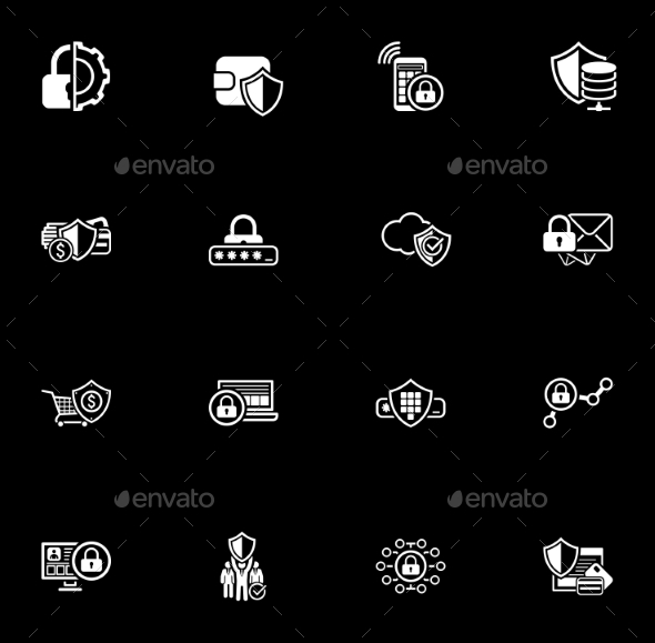 Security and Protection Icons Set. - Technology Icons