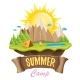 Vector Summer Camping Concept Illustration - GraphicRiver Item for Sale