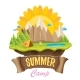 Vector Summer Campinng Concept Illustration - GraphicRiver Item for Sale