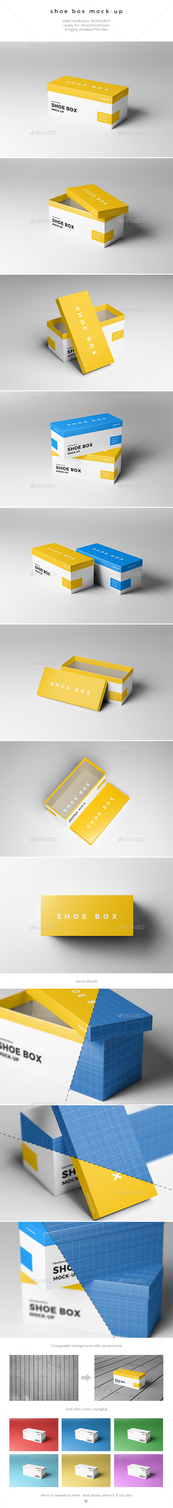 Shoe Box Mock-Up - Miscellaneous Packaging