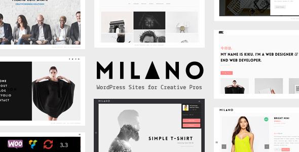 Milano | Creative Minimal Portfolio & WooCommerce WordPress Theme