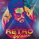 Retro Wave Flyer/Instagram Template - GraphicRiver Item for Sale