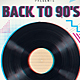 90s Retro Party Flyer Template - GraphicRiver Item for Sale