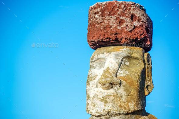 Moai Closeup - Stock Photo - Images