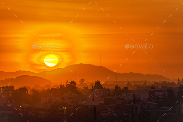 Arequipa, Peru Sunset - Stock Photo - Images