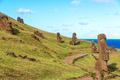 Easter Island Moai at Rano Raraku - PhotoDune Item for Sale