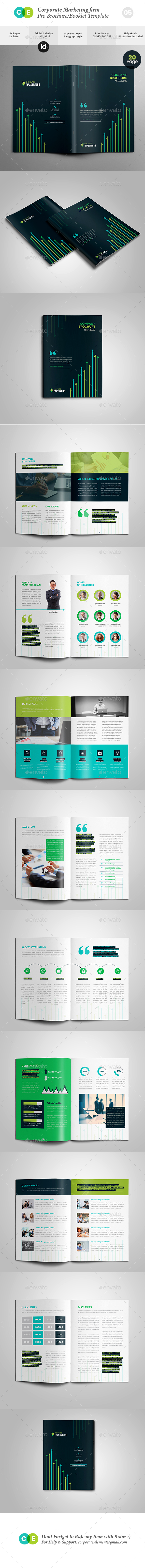 Corporate Marketing Firm Pro Brochure Template V05 - Brochures Print Templates