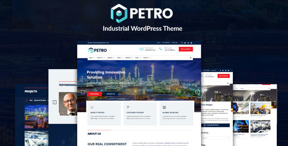 Petro - Oil Industry and Engineering Factory WordPress Theme