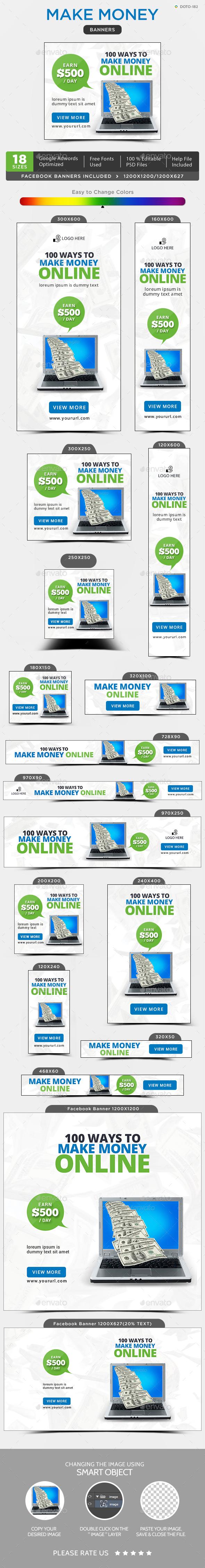 GraphicRiver Make Money Banners 20321725