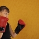 A Little Girl in Boxing Gloves - VideoHive Item for Sale