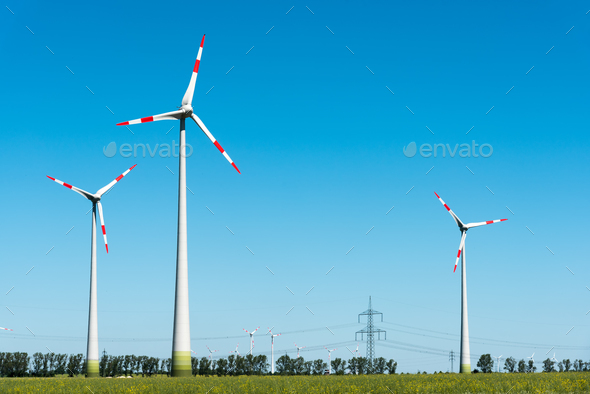 Wind energy plant in Germany
